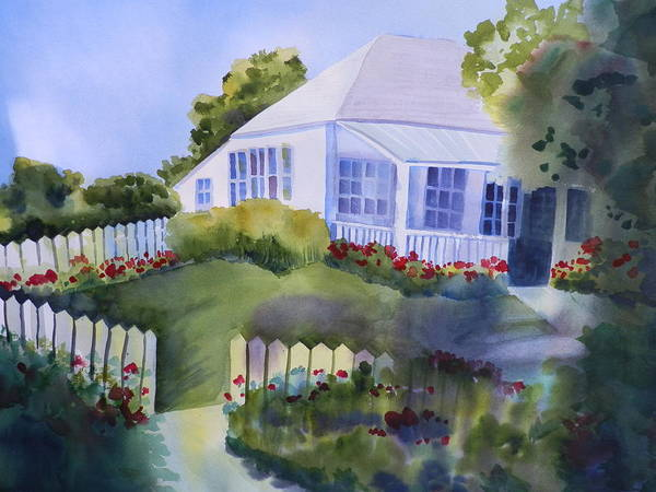 Elwood Blues Painting - House  In A Village by Jann Elwood