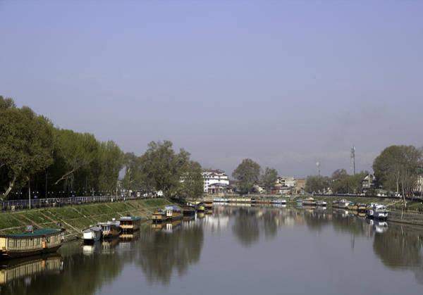 Dal Lake Photograph - Houseboats On The Shore Of A Canal In Srinagar by Ashish Agarwal