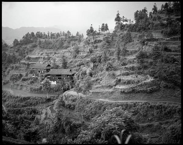 China Photograph - Houses On Mountain by Oliver Rockwell