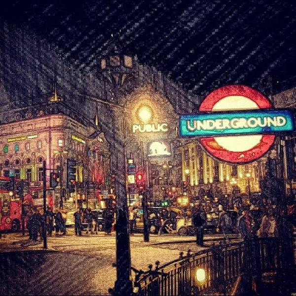 Bus Photograph - How London Looks Like At Night? May by Abdelrahman Alawwad