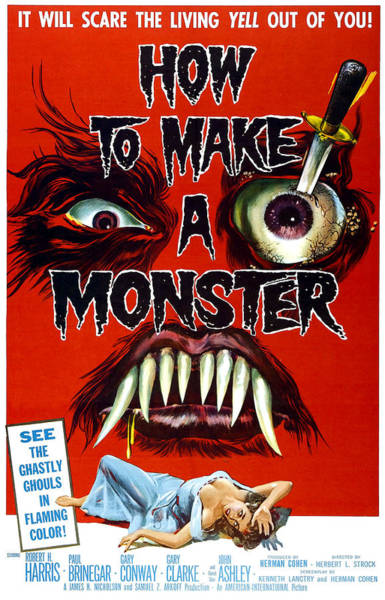 1958 Movies Photograph - How To Make A Monster, 1-sheet Poster by Everett
