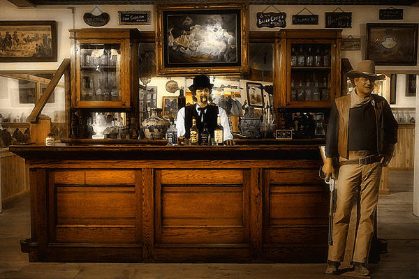 Bar Tender Photograph - Howdy Pardner by Wendy White