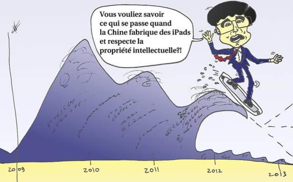 Ant Mixed Media - Hu Jintao En Caricature Politique by OptionsClick BlogArt