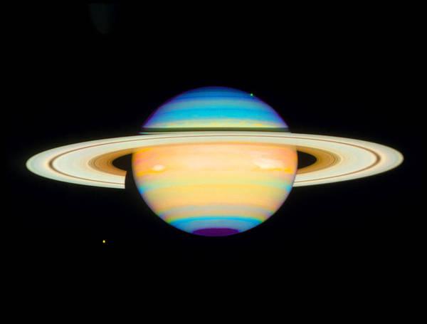 Dione Photograph - Hubble View Of Saturn by Nasaesastscie.karkoschka, U.arizona