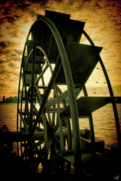 Photograph - Hudson River Wheel by Chris Lord