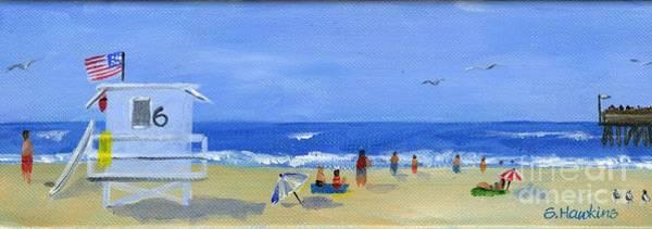Sunbather Wall Art - Painting - Hueneme Beach  by Sheryl Heatherly Hawkins