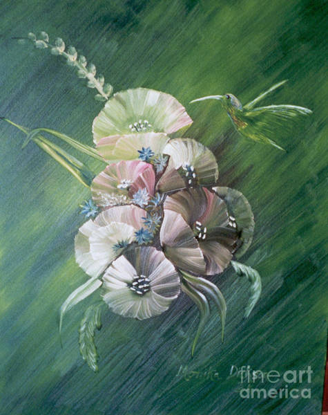 Painting - Hummingbird-green by Monika Shepherdson