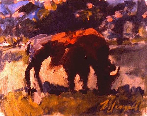 Painting - Hungry Buffalo by Les Leffingwell
