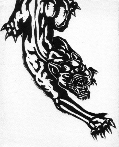 Black Panther Mixed Media - Hunter by John Kerr