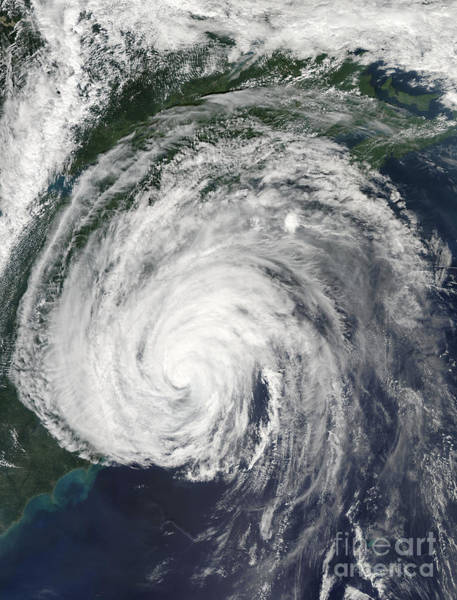 Photograph - Hurricane Earl Off The Mid-atlantic by Stocktrek Images
