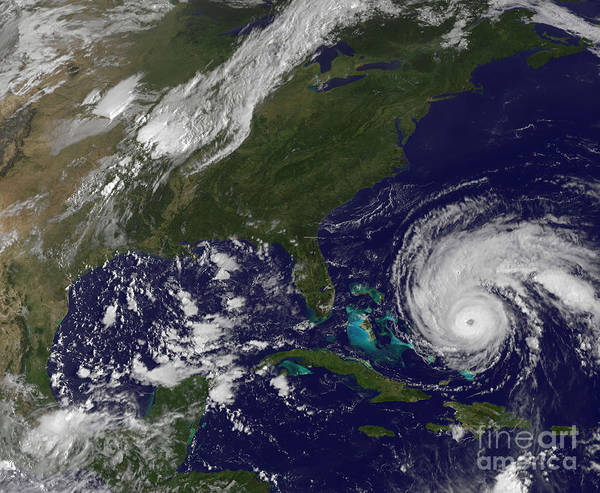 Photograph - Hurricane Earl by Stocktrek Images