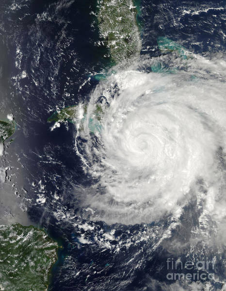 Photograph - Hurricane Ike Over Cuba, Jamaica by Stocktrek Images