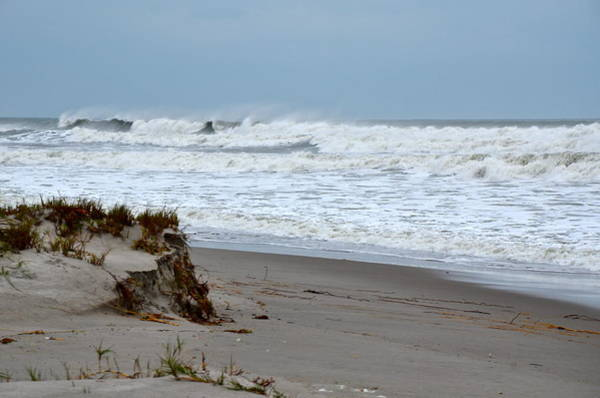 Painting - Hurricane Sandy At Cocoa Beach by AnnaJo Vahle