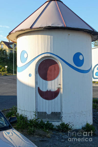 Photograph - Husavik Iceland Funny Building by Gregory Dyer