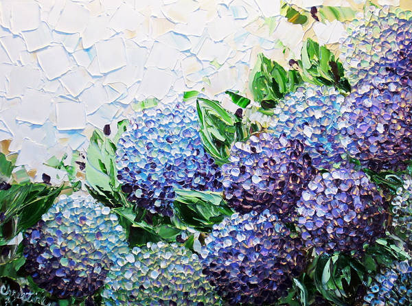 Wall Art - Painting - Hydrangea At Daybreak by Christine Bell