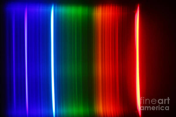 Grating Wall Art - Photograph - Hydrogen Spectra by Ted Kinsman