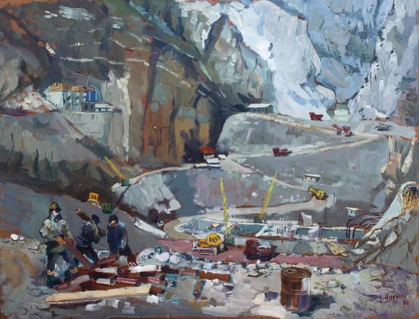 Wall Art - Painting - Hydropower Koman by Ylli Haruni