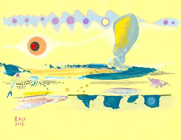 Crazy Mountains Painting - I Am Curious Yellow by Ralf Schulze
