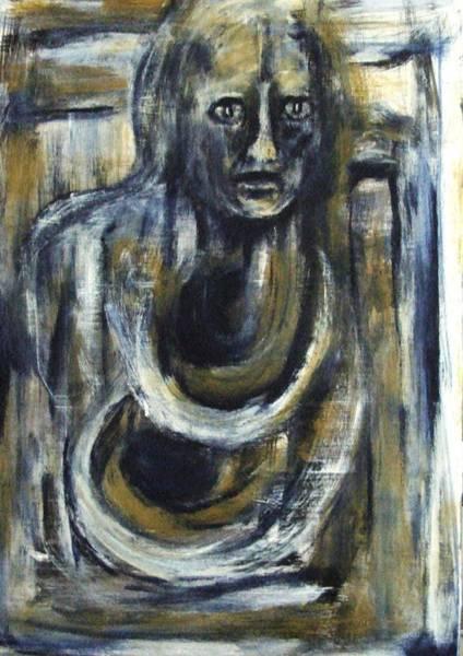 Painting - I Am Deserted Like You. by Katerina Apostolakou