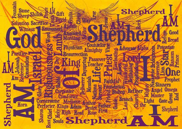 Redeemer Wall Art - Digital Art - I Am Shepherd 2 by Angelina Tamez