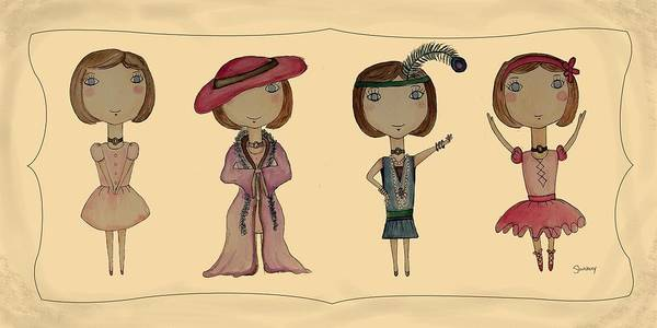 Dressed Up Mixed Media - I Can Be Anything by Heather Saulsbury
