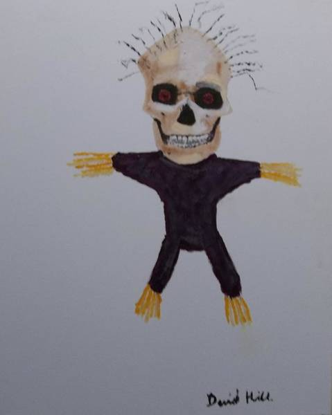 Voodoo Doll Painting - I Curse Your Filthy Soul by David Hill
