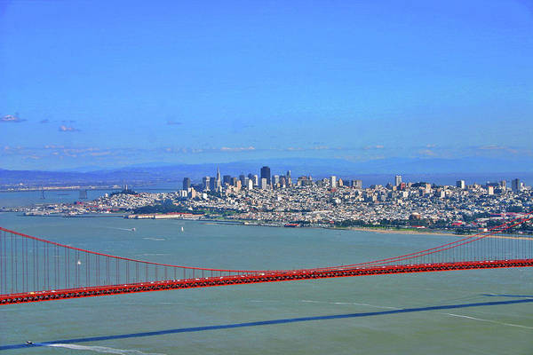 Marine Layer Photograph - I Don't See No Stinkin' Fog Golden Gate San Francisco California by Duncan Pearson