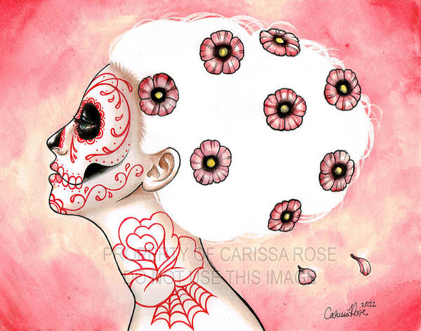 Tattoo Flash Painting - I Had So Much On My Mind by Carissa Rose Stevens