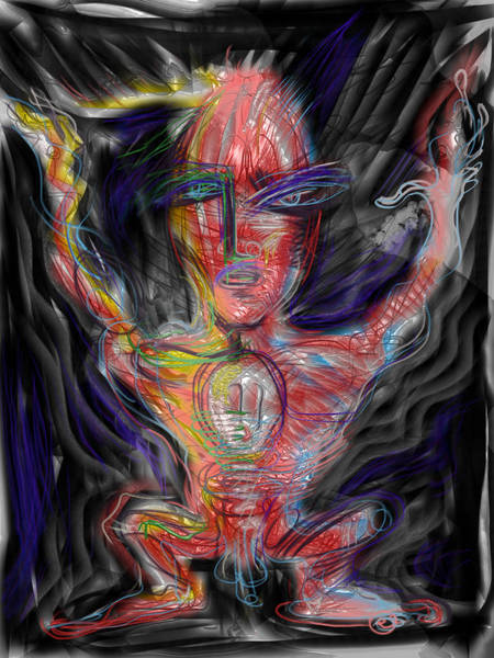 Electric Mixed Media - I Have The Power by Russell Pierce