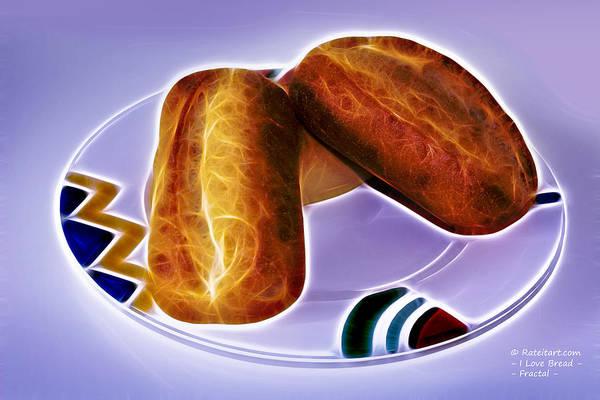 Digital Art - I Love Bread by James Ahn