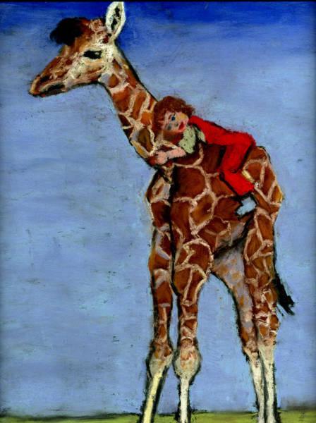 Wall Art - Painting - I Love My Very Own Giraffe by Cheryl Whitehall