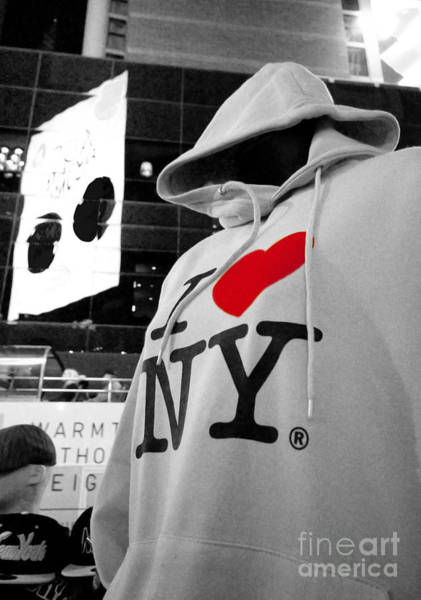Hoodie Photograph - I Love New Yoik  by Rob Hawkins