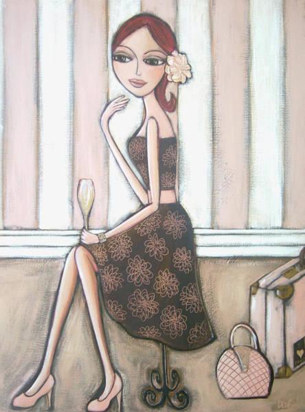 Pink Champagne Painting - I Love Paris by Denise Daffara