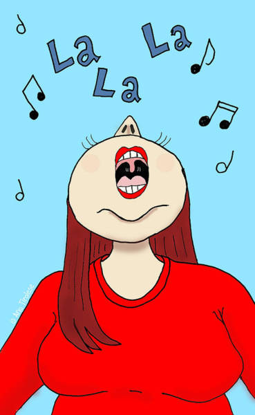 Drawing - I Love To Sing by Ana Tirolese