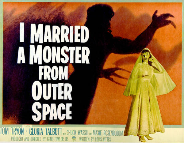 1958 Movies Photograph - I Married A Monster From Outer Space by Everett
