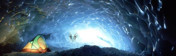 Pemberton Photograph - Ice Cave, Appa Glacier, Pemberton Ice by David Nunuk