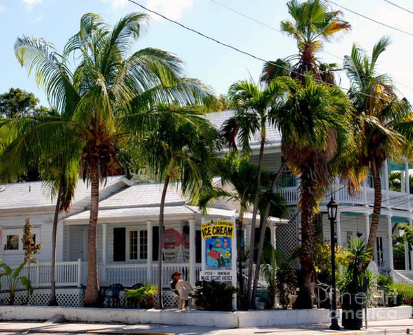 Photograph - Ice Creme Shop On Duval Key West by Susanne Van Hulst