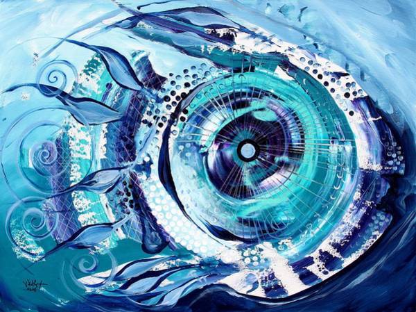 Icehole Fish Art Print