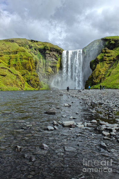 Photograph - Iceland Skogar Waterfall 05 by Gregory Dyer