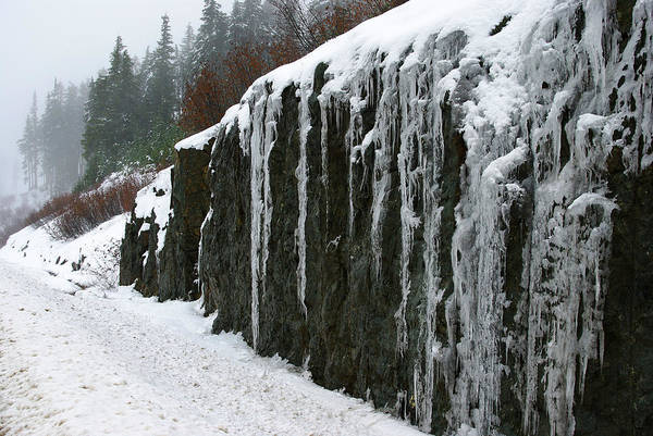Photograph - Icicles On The Rock by Marilyn Wilson