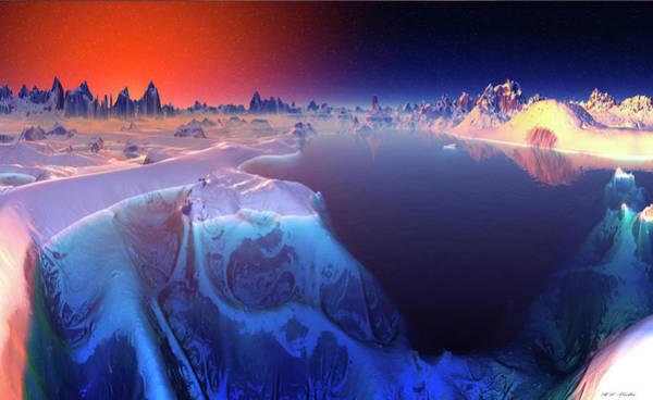 Wall Art - Digital Art - Icy Water Sculpture by Heinz G Mielke