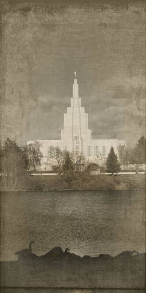 Photograph - Idaho Falls Temple Verticle by Ramona Murdock