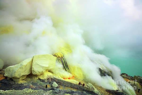 Brimstone Photograph - Ijen Crater by MotHaiBaPhoto Prints