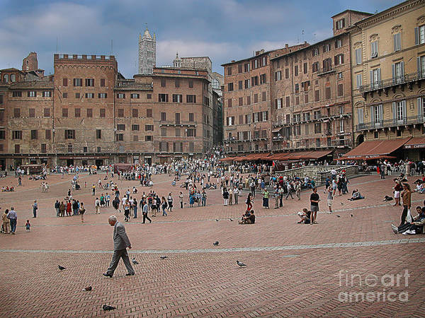 Wall Art - Photograph - Il Campo Siena by Jim Wright
