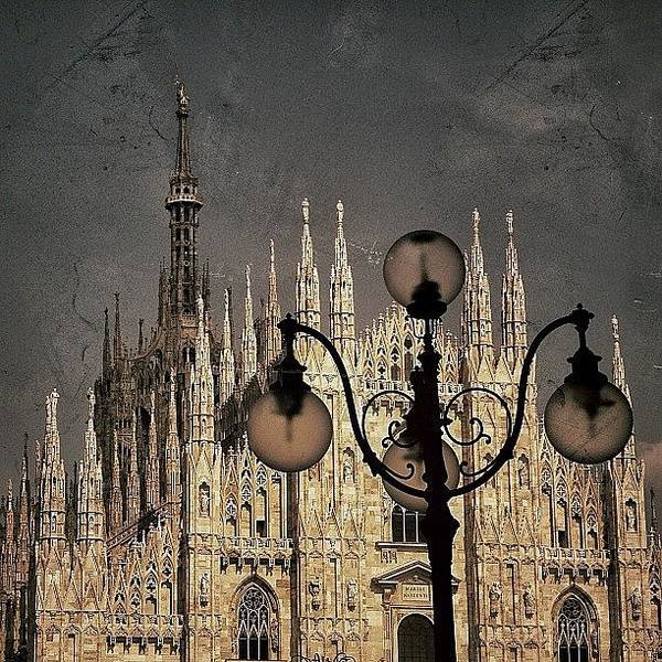 Vintage Photograph - Il Duomo Di Milano - Milano by Joel Lopez