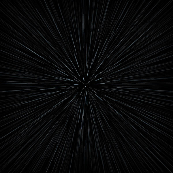 Square Digital Art - Illustration Of Warp Speed Movement Through Stars by Stockbyte
