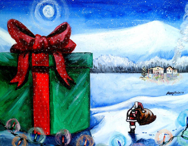 Boot Hill Painting - I'm Going To Need A Bigger Sleigh by Shana Rowe Jackson