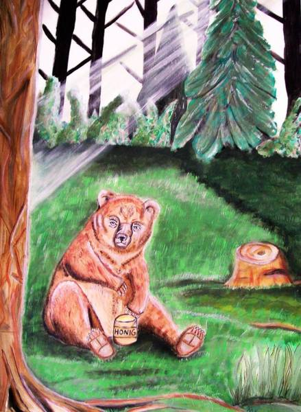 Wall Art - Painting - Im Wald by Mamu Art