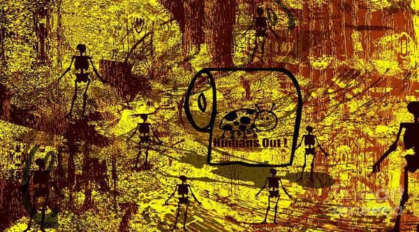 Description Digital Art - Immigration - All Aliens Out by Fania Simon