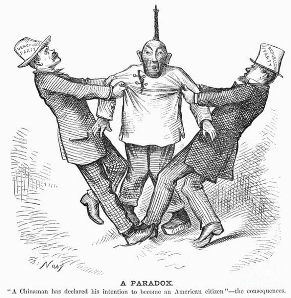 Coolie Photograph - Immigration Cartoon, 1880 by Granger